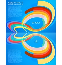 Abstract perspective colorful circles leaflet vector image