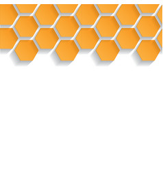 Abstract seamless texture with honeycombs vector image