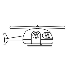 ambulance helicopter icon outline style vector image