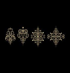 Arabic floral frame traditional islamic design vector