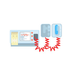 automated external defibrillator aed medical vector image