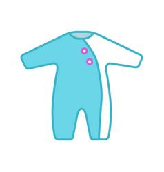 Baby romper color icon vector