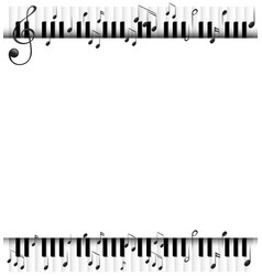Background template with musicnotes and piano vector