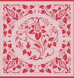 baroque frame with flowers ornaments vector image