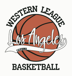 basketball los angeles california vector image
