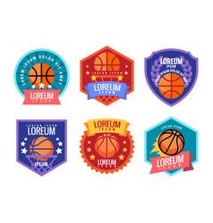 basketball tournament emblem vector image