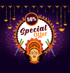 big navratri sale offer background vector image