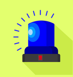 blue flasher icon flat style vector image