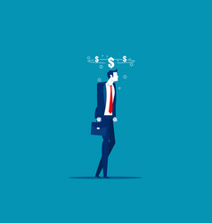 business man drunk money dizzy concept vector image