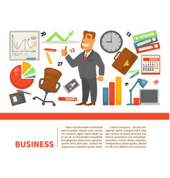 business office worker employee or boss vector image