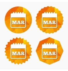 Calendar sign icon March month symbol vector