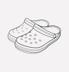 crocs icon line element of vector image
