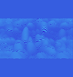 curve 3d line waves pattern abstract background vector image
