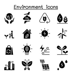 environment ecology icon set vector image