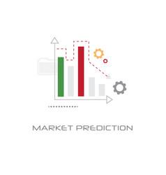 Financial graphs marketing analysis business vector