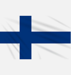 Flag finland swaying in the wind realistic vector