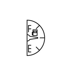 fuel gauge icon element of racing for mobile vector image