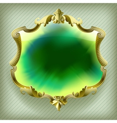 Gold baroque frame vector