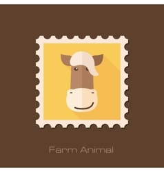 Horse flat stamp Animal head vector image