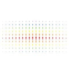 human spectrum halftone matrix vector image