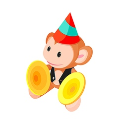 icon monkey toy vector image