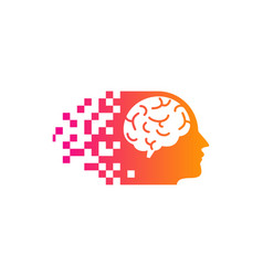 Interface brain logo icon design vector