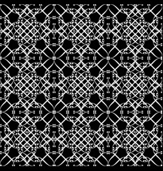 Lacy black and white pattern seven vector