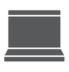 laptop glyph icon electronic and computer vector image