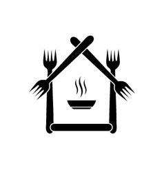 Logo for a restaurant vector image