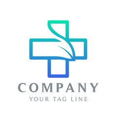 logo template in form a plus sign vector image