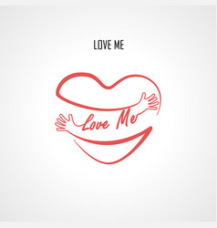 love me typographical design elements vector image
