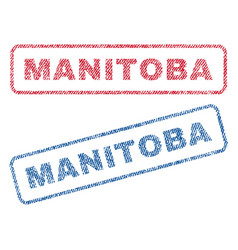 Manitoba textile stamps vector