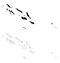 Map solomon islands isolated vector