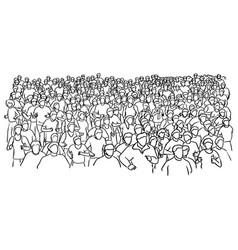 Marathon runner sketch doodle hand vector