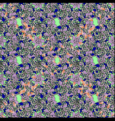 Marine background with flowers seashells mandalas vector
