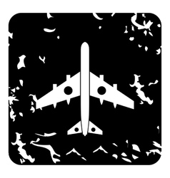 Military aircraft with missiles icon grunge style vector image