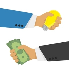 Money for the idea vector image