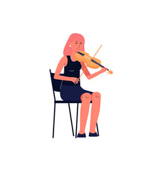 orchestra musician with violin flat vector image
