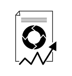 paper with a graph business icon vector image