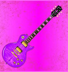 Pink guitar grunge vector