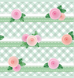 plaid textile seamless pattern background vector image