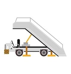 plane ladder cart vector image