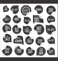 premium quality modern sticker and tag collection vector image