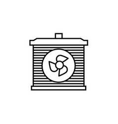 Radiator car icon can be used for web logo mobile vector