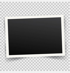 realistic vintage photo frame with shadow on vector image