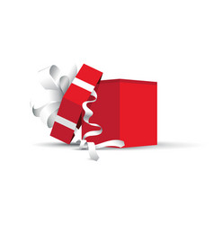 Red opened present vector