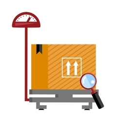 Scales for weighing heavy objects and goods vector image
