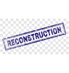 Scratched reconstruction rectangle stamp vector