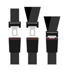 seat belt icon isolated on white background flat vector image