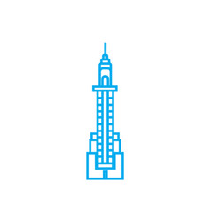 skyscraper tower linear icon concept skyscraper vector image